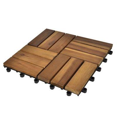 Terrastegels acaciahout 30 x 30 cm (10 stuks)