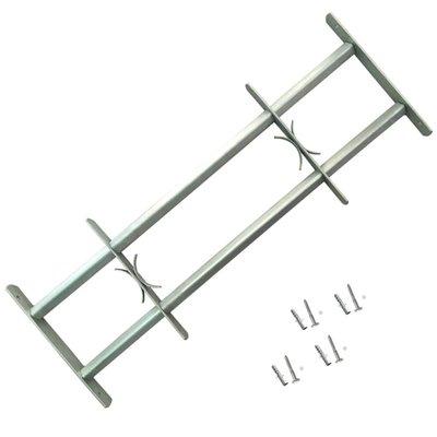 Raambeveiliging verstelbare tralies met twee dwarsbalken 500-650 mm