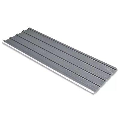 Dakpanelen gegalvaniseerd staal grijs 12st