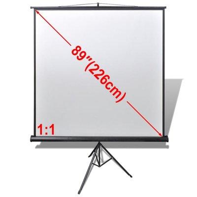 Projectiescherm wit + statief 160 x 160 cm (1:1 formaat)