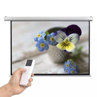Projectiescherm met afstandsbediening elektrisch 160x90 cm 16:9