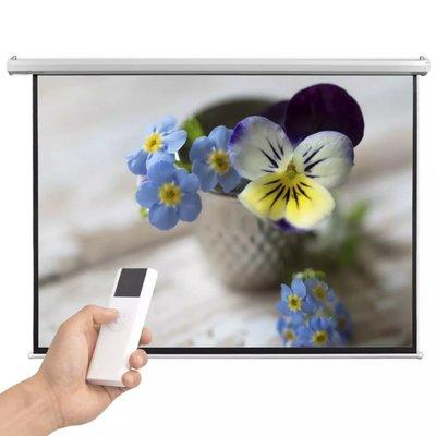 Projectiescherm met afstandsbediening elektrisch 200x153 cm 4:3