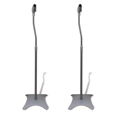 Universele speakerstandaard 2 stuks (zilver)