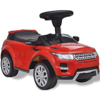 Loopauto Land Rover 348 met muziek rood