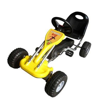 Skelter met pedalen geel