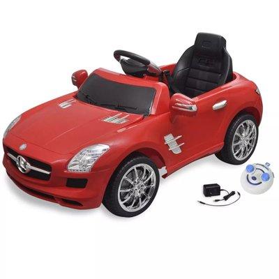 Elektrische auto Mercedes Benz SLS AMG rood 6 V met afstandsbediening