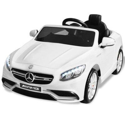 Elektrische speelgoedauto Mercedes Benz AMG S63 6 V wit
