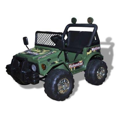 Elektrische speelgoedauto 2-zits (legergroen)