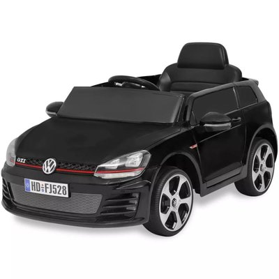 elektrische auto VW Golf GTI 7 zwart 12 V met afstandsbediening