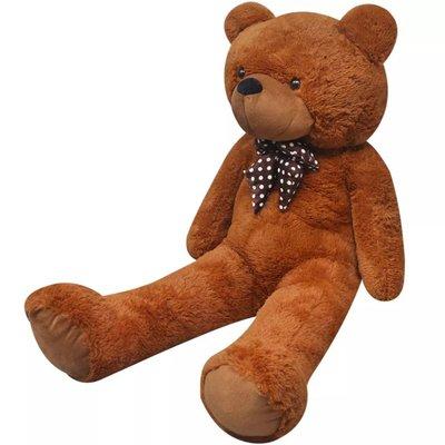 Teddybeer XXL 175 cm zacht pluche bruin