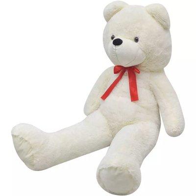 Knuffelbeest teddybeer 200 cm pluche wit