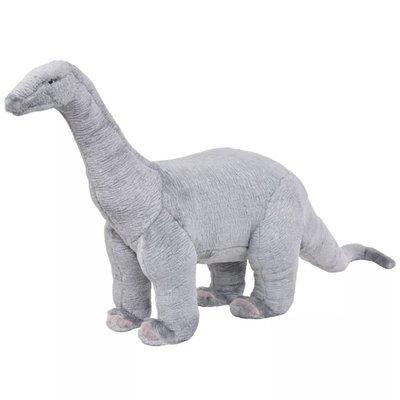 Speelgoeddinosaurus staand XXL pluche grijs
