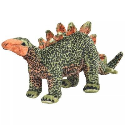Speelgoeddinosaurus staand XXL pluche groen en oranje