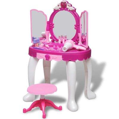 Speelgoedkaptafel staand met 3 spiegels en licht/geluid