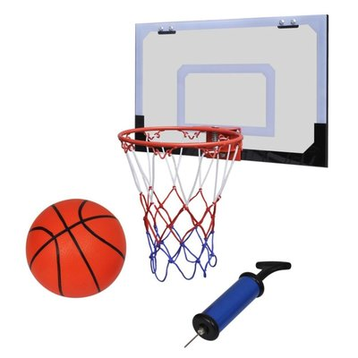 Mini-basketbalset met bal en pomp