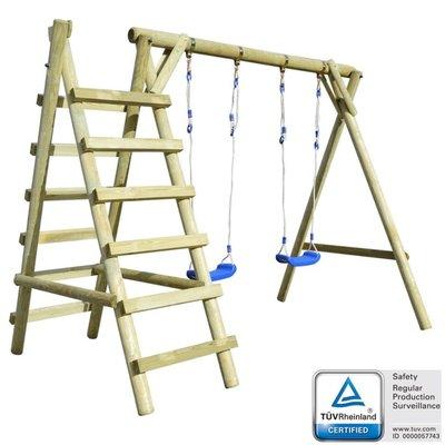 Schommelset met ladders 268x154x210 cm FSC grenenhout