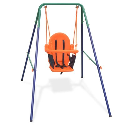 Peuterschommelset met veiligheidsharnas oranje