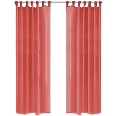Gordijnen voile 140x175 cm rood 2 st