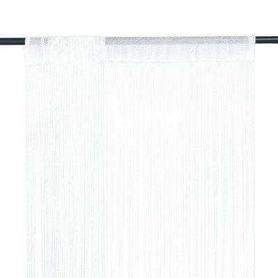 Draadgordijn 100x250 cm wit 2 st