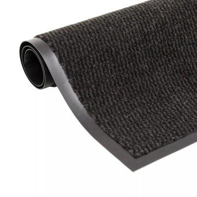 Droogloopmat rechthoekig getuft 40x60 cm zwart