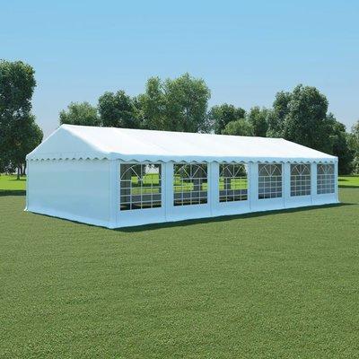 Tuinpaviljoen 6x12 m PVC wit