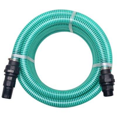 Zuigslang met koppelingen 10 m 22 mm groen