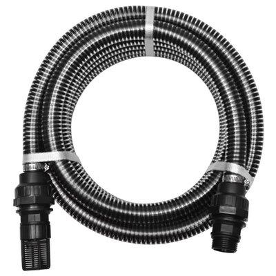 Zuigslang met koppelingen 7 m 22 mm zwart