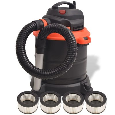 Asstofzuiger 1200 W 20 L zwart en oranje