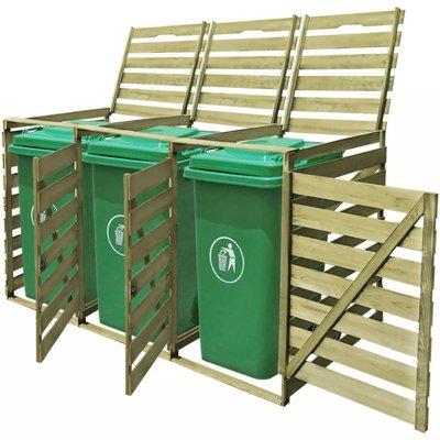 Containerberging driedubbel 240 L FSC geïmpregneerd hout