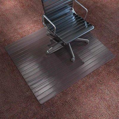Stoelmat/vloerbeschermende mat bamboe bruin 110x130 cm