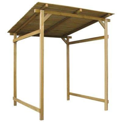 Overkapping 170x200x200 cm geïmpregneerd grenenhout