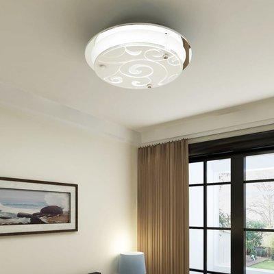 Plafondlamp rond glas 1xE27 patroon