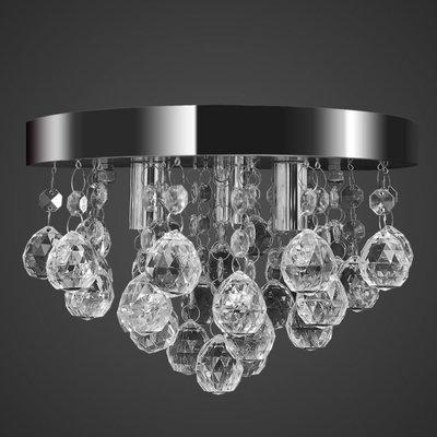 Plafondlamp kroonluchterontwerp kristal chroom
