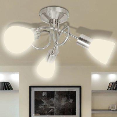 Plafondlamp met glazen kappen voor 3 x E14 peertjes