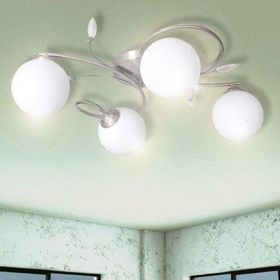Lamp met kristallen bladeren van acryl voor 4x G9
