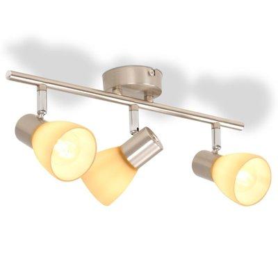 Plafondlamp met 3 spotlights E14 zilver