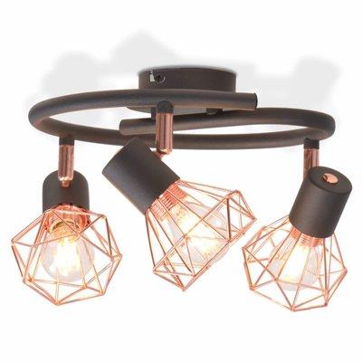 Plafondlamp met 3 filament LED-lampen 12 W