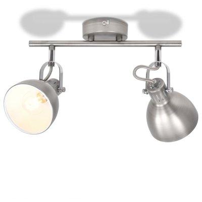 Plafondlamp voor 2 peertjes E14 grijs
