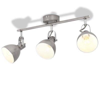 Plafondlamp voor 3 peertjes E14 grijs