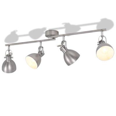 Plafondlamp voor 4 peertjes E14 grijs