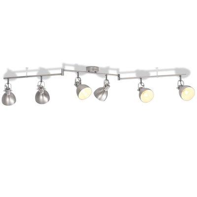 Plafondlamp voor 6 peertjes E14 grijs