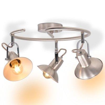 Plafondlamp voor 3 peertjes E14 zilver