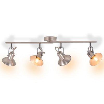 Plafondlamp voor 4 peertjes E14 zilver