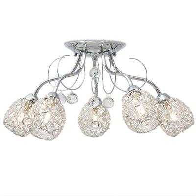 Plafondlamp met 5 LED-gloeilampen G9 200 W