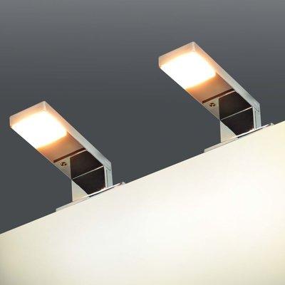 Spiegellamp 2 W warm wit 2 st