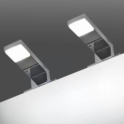Spiegellamp 2 W koud wit 2 st