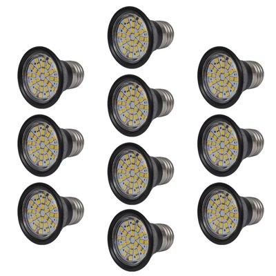 LED spots zwart 3W E27 warm wit (10 stuks)