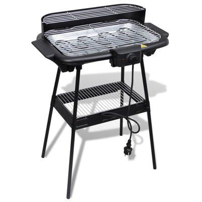 Barbecue elektrisch staand rechthoekig