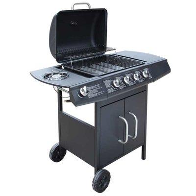 Gasbarbecue 4+1 kookzone zwart