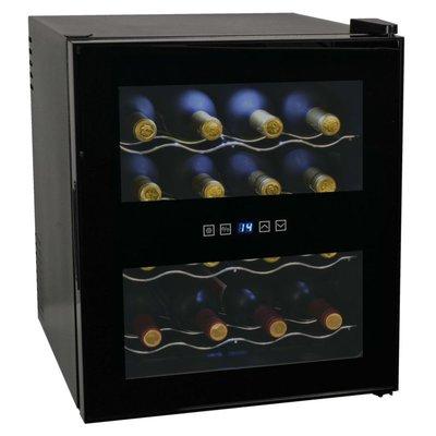 Wijnkoeler voor 16 flessen met LCD-scherm 48 L